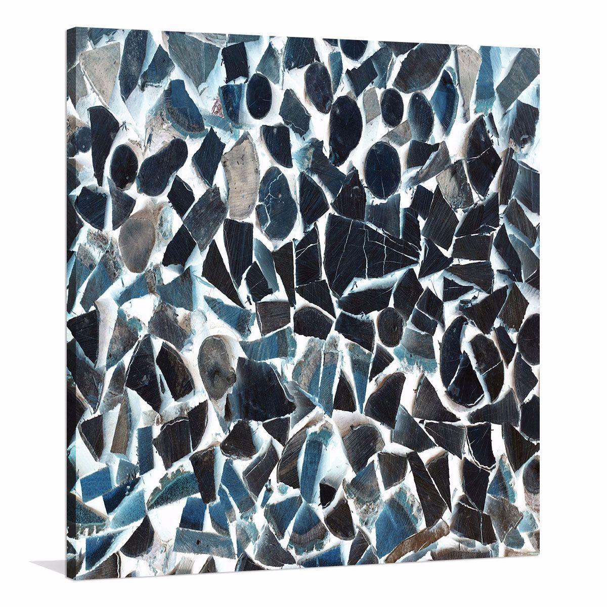 Terrazzu Blu| Canvas Print | Buy Australian Made Canvas Print
