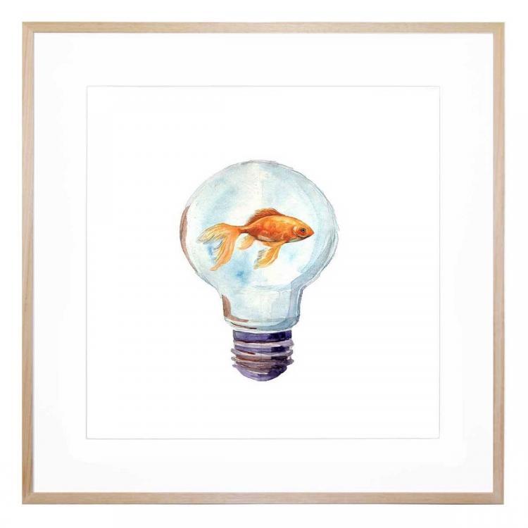 Lightbulb Moment - Framed Print