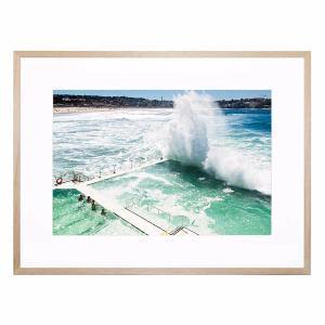 Beach Water Wall - Framed Print