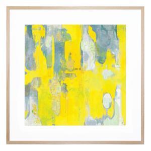 Books in Lemon - Framed Print