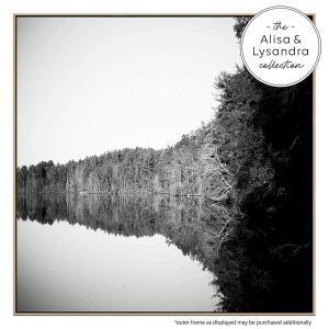 Trees and Lake - Canvas Print