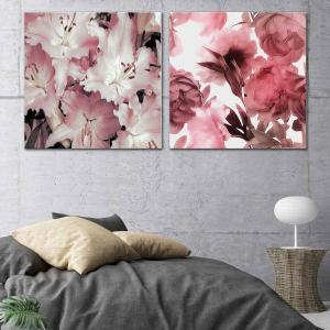Flores Des Paz - Rosa Fiori - Canvas Print