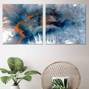 The Blue Line 1 / The Blue Line 2 - Canvas Print
