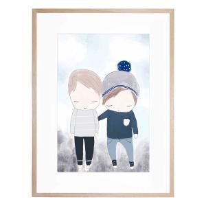 Brothers - Framed Print
