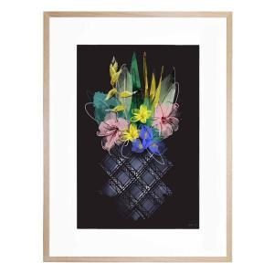 Pineapple Flowers - Framed Print
