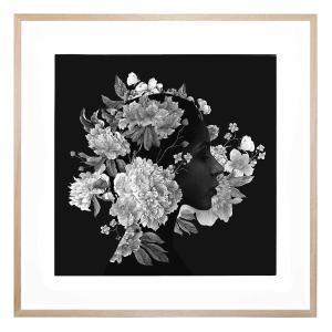 Squareflora - Framed Print
