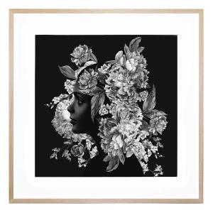 Squarefloral - Framed Print