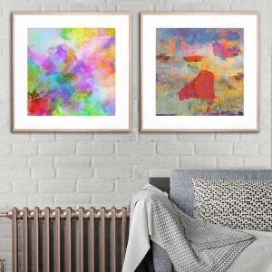 An Explosion of Spring / Sky Bright - Framed Print