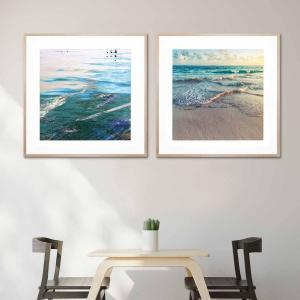 Angel Water / Main Beach - Framed Print