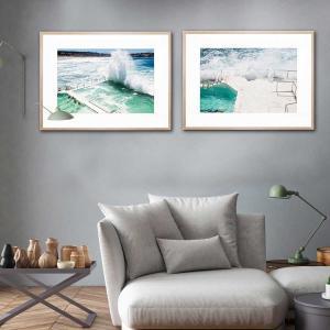 Beach Water Wall / Beach Waves - Framed Print