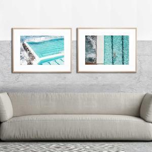 Beachside Pool / Swim By the Beach - Framed Print