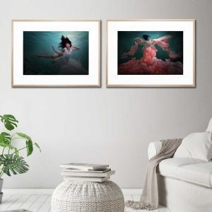 Beneath the Sea / The Awakening of Flora - Framed Print