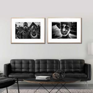 Bilta and Soni / Jofi - Framed Print