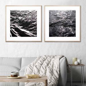 Black Water 2 / Black Water 1 - Framed Print
