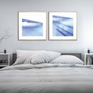 Blue Bridge 2 / Blue Bridge 1 - Framed Print