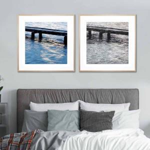 Boat Jetty / Mono Mandurah - Framed Print