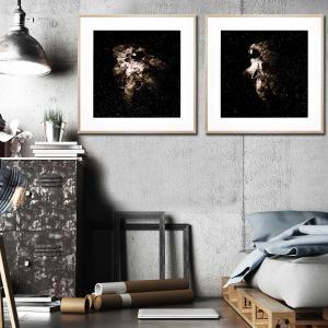 Astronaut 1 / Astronaut 2 - Framed Print