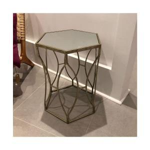 Massima Side Table - Gold with Mirror