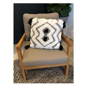 Gaile Handwoven Cushion - Black and White (45x45)