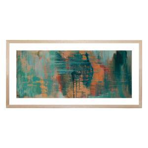 Storm in a Valley at Sunset - Framed Print