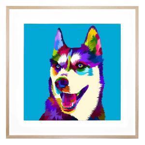 Husky - Framed Print