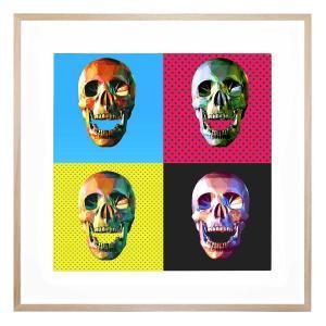 Pop Skulls - Framed Print