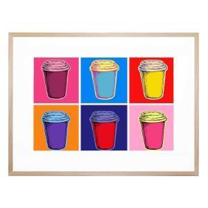 Pop Art Latte - Framed Print
