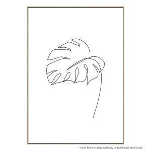 Minimal Monstera - Canvas Print