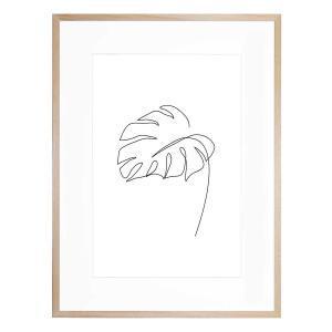 Minimal Monstera - Framed Print