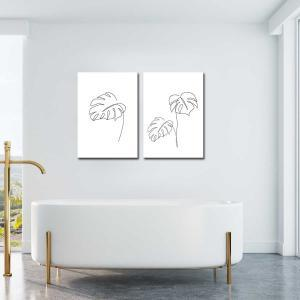Minimal Monstera / Monstera 2 - Canvas Print