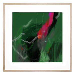 Emeralds And Pearls - Framed Print