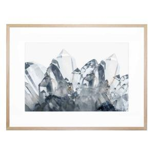 Crystal Healing In Blue - Framed Print