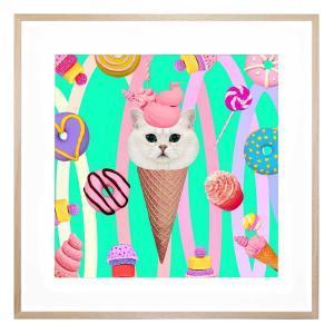 Coney Cat - Framed Print