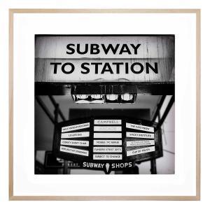 Flinders St Subway - Framed Print