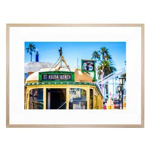 Tram To St Kilda Beach - Framed Print