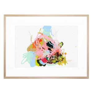 Eggplant Abstract - Framed Print