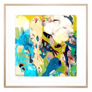 Koi Flowers - Framed Print