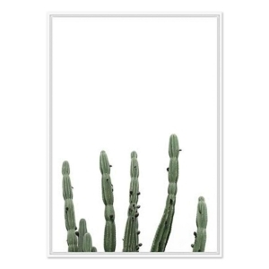 Minimal Cactus - White Frame - ONE ONLY
