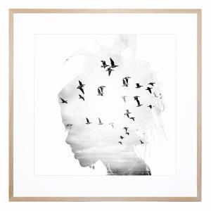 Thoughts Keep Running - Framed Print