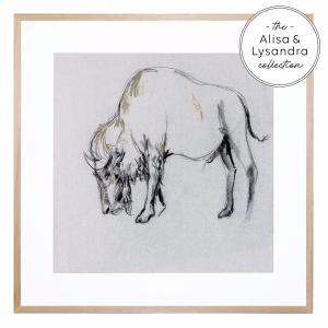 Bison in Grey - Framed Print