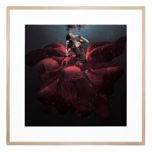 The Lady In Red - Framed Print
