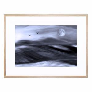 Blue Moon Rising - Framed Print