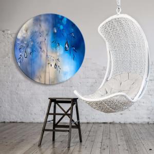 Blue Rain - Acrylic Art