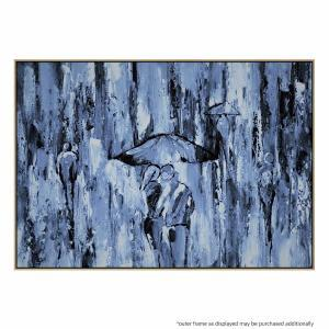 Blue And Rain - Painting