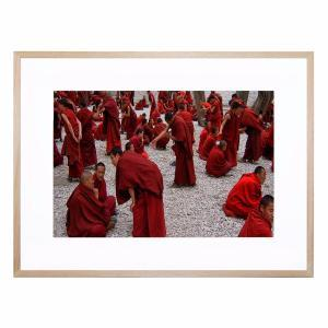 Debating Monks - Framed Print