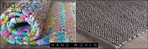 hand woven flat weave rug