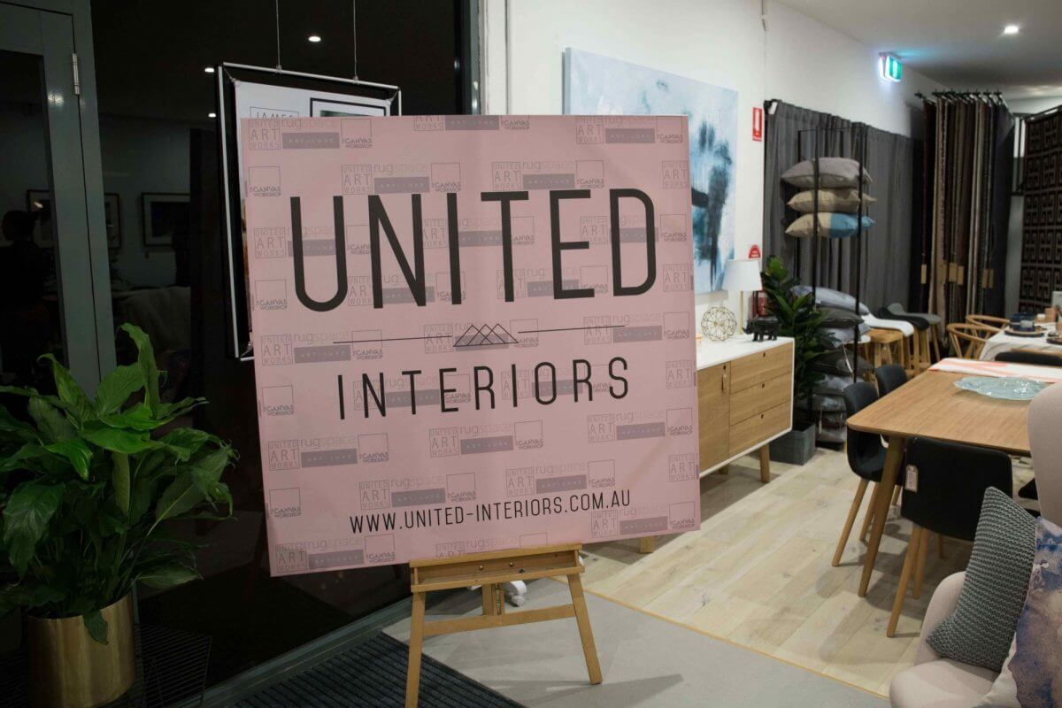 united interiors showroom opening launch VIP event party art gallery alisa lysandra james treble