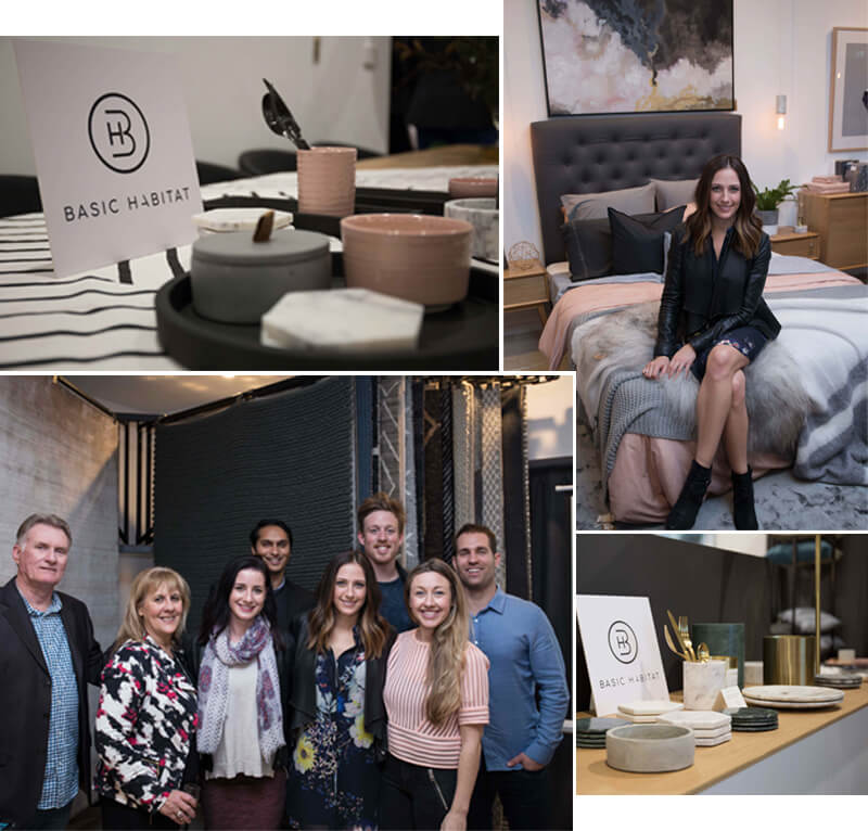 basic habitat dani wales dan and dani the block josh and jenna united interiors shop in shop decor accessories showroom launch party