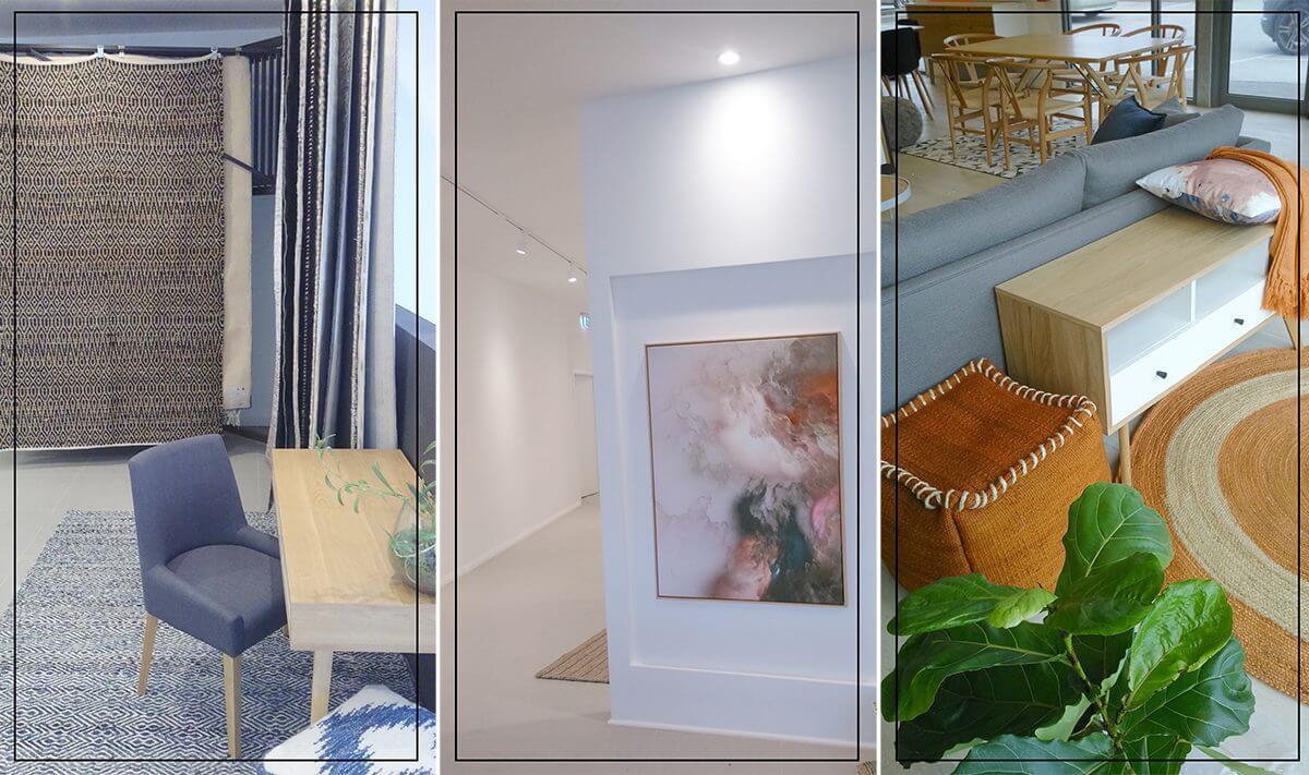 sneak peek showroom united interiors new melbourne homewares art gallery decor rugs address shop