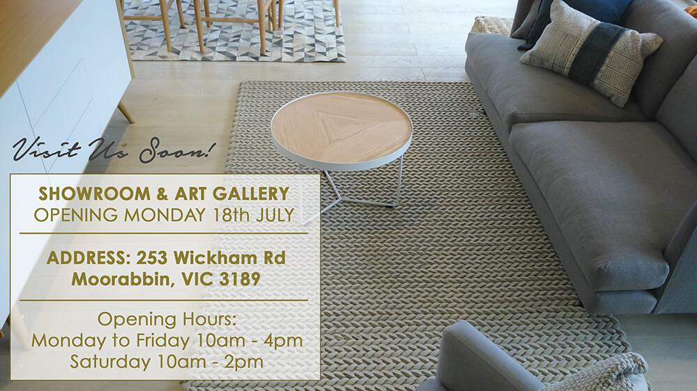 orange showroom sneak peek melbourne united interiors art gallery homewares rugs decor address